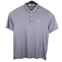 Travis Mathew Mens Purple Pima Cotton Blend Short Sleeve Polo Shirt Size XL