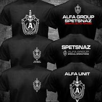 Russian Spetsnaz Alfa Alpha Unit Counter Terrorist Special Unit Forces T shirt