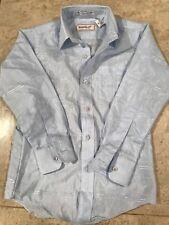 YVES SAINT LAURENT BOY'S SPORTSWEAR LIGHT BLUE DRESS SHIRT SIGNATURE 8 NEW