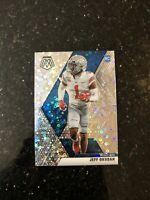 2020 Panini Mosaic Jeff Okudah Silver Disco Prizm RC No Huddle  SSP Variation