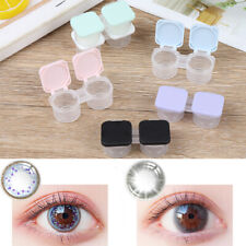 1X Contact Lens L+R Cases Storage Holder Soaking Container Travel Accessar Hs