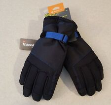 NWT $28 Tek Gear Men's SIZE M/L Core Ski Gloves BLACK Touchscreen SNOW   #255517