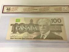 Canada 1988 $100 Banknote Replacement Bill AJX3396747 BCS EF - No Tax