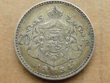 20 frank, België, Albert 1, 1934, zilver, zeer fraai -