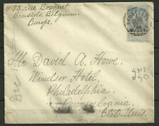 Belgium Postal History: 1898 25c.ultra King Leopold Issue + Label Cover to Usa