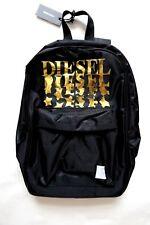 Bolsas de diesel Mochila para niños escuela negro y dorado nuevo