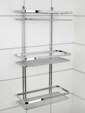 EuroShowers Satina 3 Tier 25cm x 12cm x 43cm Rectangular Shower Tidy - 56590