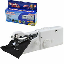 Portable Mini Handy Fabric Clothes Stitch Battery Handheld Sewing Machine UK