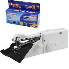 Portable Mini Handy Fabric Clothes Quick Stitch Handheld Sewing Machine DE