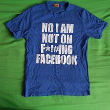 NO non sono su facebook Foto Blu t shirt taglia small Top Novità social media