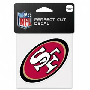 "San Francisco 49ers NFL Football 4"" x 4"" Full Color Logo 4x4 Die Cut Decal"