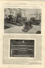 1900 Gloucester Electricity Supply Works Engine Room Switchboard
