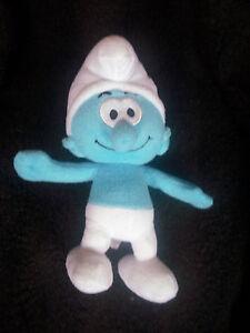 "The Smurfs by Nanco Blue Smurf Plush Doll toy Stuffed 10"""