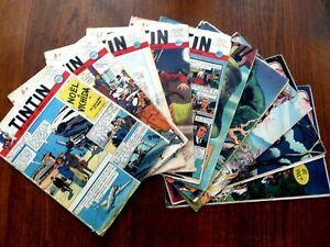 HEBDOMADAIRES JOURNAL TINTIN  ANNEES 50 - LOT DE 10