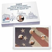 2009 S Lincoln Bicentennial One Cent Proof Set * U.S. Mint Box & COA * Complete