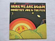 Country Joe & The Fish Here We Are Again 1969 Vanguard 1st Pressing w/ Insert NM