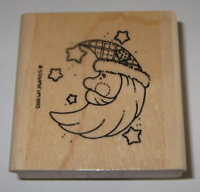 Santa Claus MOON Rubber Stamp Stars Celestial Stampin' Up! Christmas Retired
