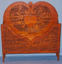 ANTIQUE BURNTWOOD FLOOR  DESK TABLE TOP STAND HOLDER PAPER MAGS CA EARLY 1900's