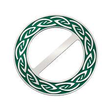 Celtic Annulus Redondo Verde Esmalte Bufanda Anillo