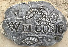 "Stepping Stone Concrete Mold ""Welcome 4"" cement, plaster"