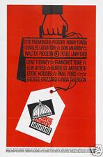Advise & consent Gene Tierney vintage movie poster #1