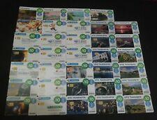 GREECE LOT 34 DIFFERENT M-PHONECARDS FROM 2010-2016 THEME:ADVERTISING, SPACE etc