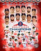 2018 WORLD SERIES Red Sox team-Mookie Betts,J.D. Martinez,Chris Sale+ 8x10 photo