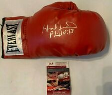 Evander Holyfield Autographed Everlast Red Boxing Glove JSA Witnessed COA