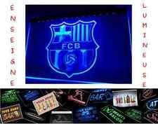 PANNEAU LUMINEUX 40x30 ENSEIGNE FC BARCELONE BARCA FOOTBALL BAR PUB CAFE MAILLOT