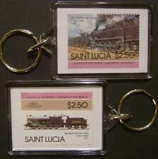 1919 MR/LMS Lickey Banker BIG BERTHA 0-10-0 Train Stamp Keyring (Loco 100)