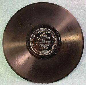 """Jimmie Rodgers 10"""" 78rpm Record-Victor-#21574 -A&B Recorded on Oct. 5th 1928"""