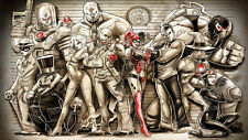 HD Art Canvas Print, Oil Painting Comics Poison Ivy Catwoman Joker 16x28