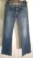 Hippie Brand Flare Denim Jeans Women's Junior's Size 0 Distressed Wash 26 x 33