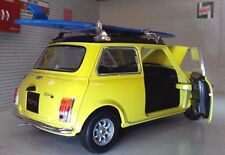 Austin Rover Mini Classic Cooper Mr Bean Surf Board 1:24 Scale Diecast Model