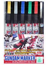 Mr. Hobby GMS121 Gundam Metallic Marker Set Paint Color 6pcs Bandai Model