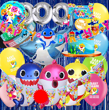 BABY SHARK balloon balloons cake topper decoration supplies party cupcake BANNER