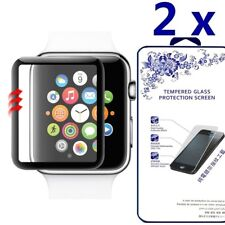 2X For Apple Watch3 42mm Series 1/2/3 3D Full Cover Screen Protector