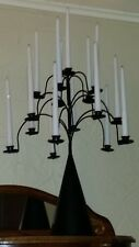 """Antique Tole Candelabra Centerpiece 16 Candles 24""""T 18""""W Taper Candles RARE"""