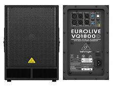 "Behringer Vq1800d Subwoofer Attivo 18"" con Crossover Stereo 500w"