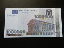 NEW €1,000,000 1 Million Euro Novelty Banknote Bill Novelty Europe Millionaire
