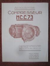 FIN 1940'S DEPLIANT PUB AEROCENTRE COMPRESSEUR NC.C.73 AVION AIRCRAFT COMPRESOR