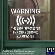 6 x Shop Protected Alarm System-Internal Stickers-Business,Premises,Security