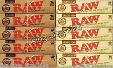 Raw Kingsize Classic And Organic Rolling Papers Hemp King Size Paper Set 10 Pack