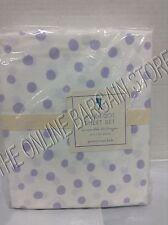 Pottery Barn Kids POLKA DOT Dottie Bed Sheets Set Twin Lavender 5% organic