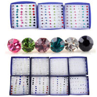 20 Pairs/Set Fashion Womens Crystal Ear Stud Earrings Jewelry Xmas New Year Gift