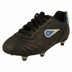 Boys Galaxy Black Synthetic Screw Stud Football Boots By mitre £15.00