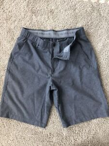 mens under armour golf shorts gray size 34