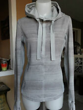 LULULEMON POST SWEAT PULLOVER RIGHTEOUS GRAY STRIPE 6/8