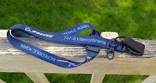 Boeing 747-8 Intercontinental Premiere Incredible Again Key Card Lanyard Blue