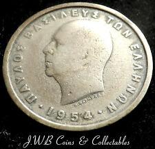 1954 GREECE 2 DRACHMA COIN